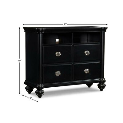 Klaussner Furniture Brandy 4 Drawer Media Chest