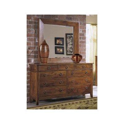 Klaussner Furniture Baxter 9 Drawer Dresser with Mirror