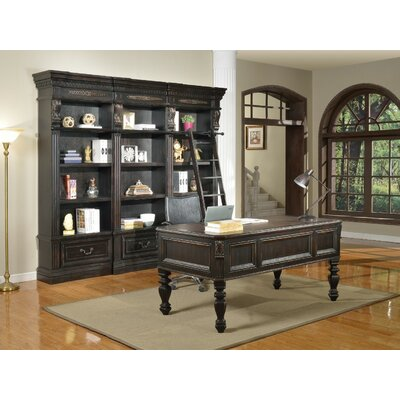 Parker House Furniture Grand Manor Palazzo 5 Piece Writing Desk and Bookcase