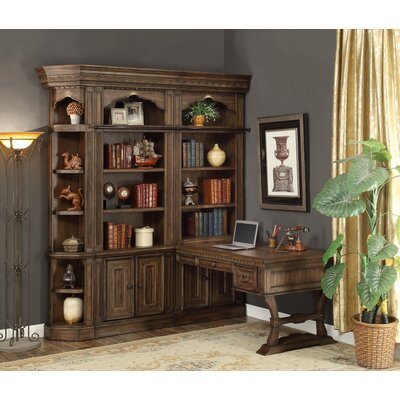 Astoria Grand Queensbury 4 Piece Peninsula Desk and Bookcase
