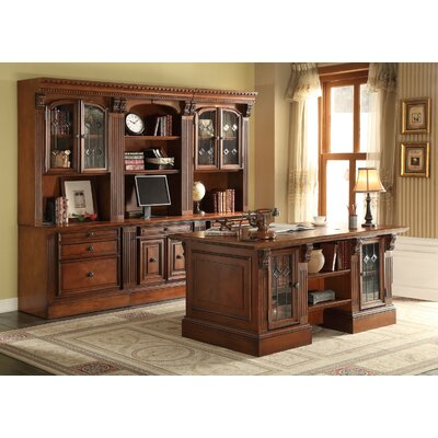 Parker House Furniture Huntington 6-Piece Wall Unit with Desk