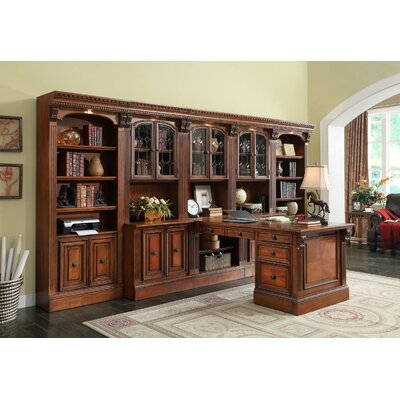 Parker House Furniture Huntington Full Office Wall with File Cabinet