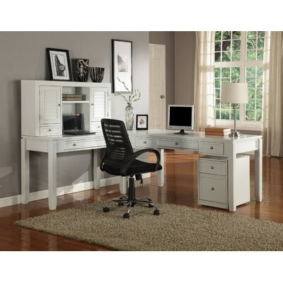 Breakwater Bay Bromley Desk and Hutch