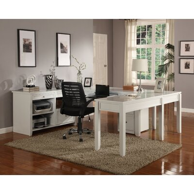 Breakwater Bay Bromley U-Desk with Credenza