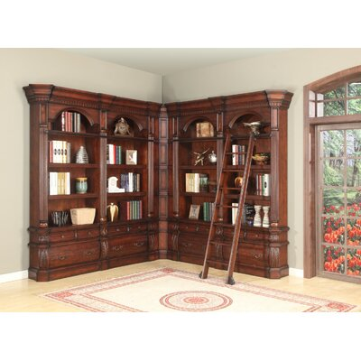 Darby Home Co Chartridge 3-Piece Library Unit with Ladder