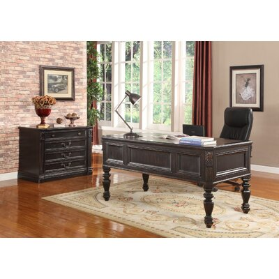 Parker House Furniture Grand Manor Palazzo Writing Desk and File Wall