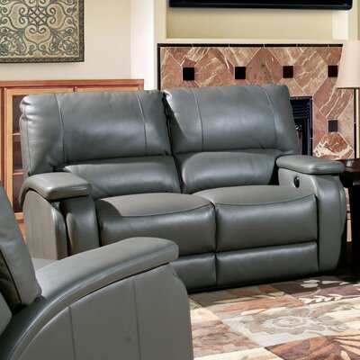 Red Barrel Studio Shelburn Dual Leather Power Reclining Loveseat