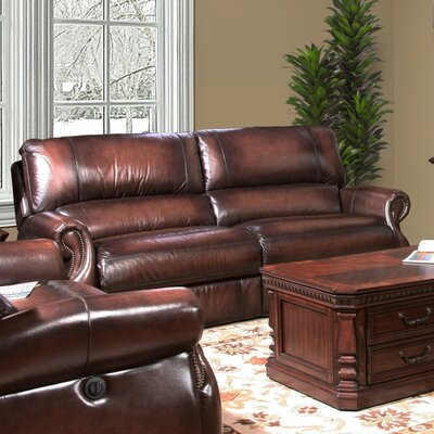 Darby Home Co Hardcastle Hardcastle Dual Leather Power Reclining Loveseat