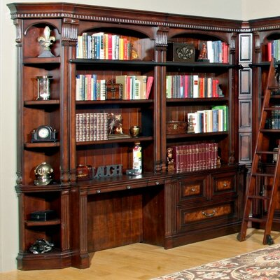 Astoria Grand Ramsey 2 Piece Library Desk and Hutch