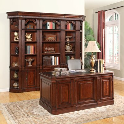 Astoria Grand Wakefield Executive Desk and Bookcase