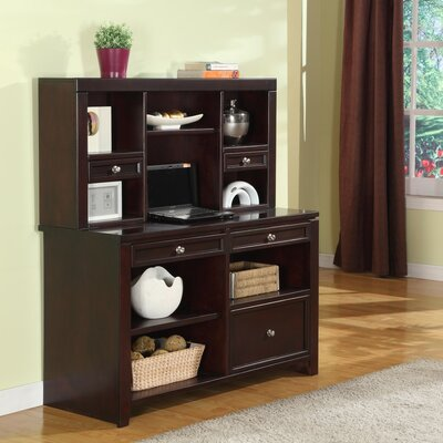 Parker House Furniture Boston 2 Piece Credenza Desk and Hutch