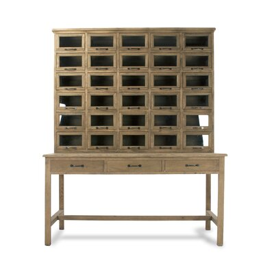 Zentique Inc. Writing Desk with Hutch