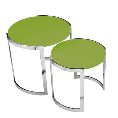 Pangea Home Omni 2 Piece Nesting Table Set Image
