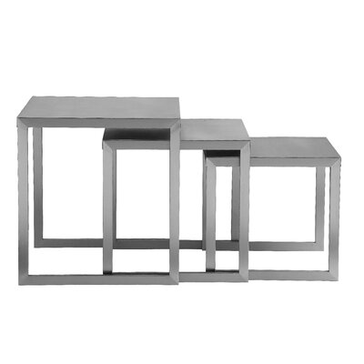 Pangea Home Century 3 Piece Nesting End Table