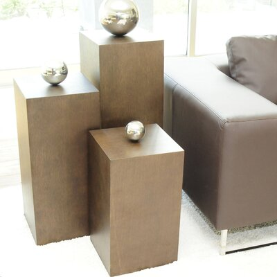 Pangea Home Ibiza 3 Piece Pedestal Set (Set of 3)