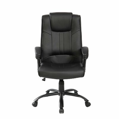Merax High-Back Executive Leather Executive Chair with Adjustable Tilt Tension Control