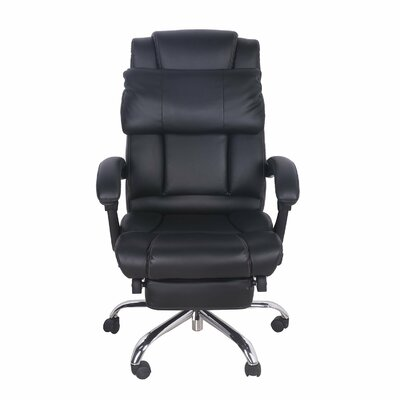 Merax High-Back Leather Executive Office Chair with Footrest