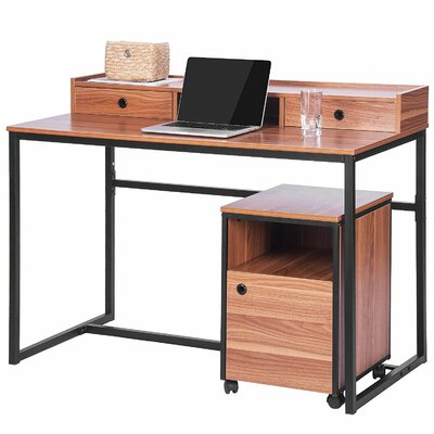 Merax 2 Piece Writing Desk with Cabine..