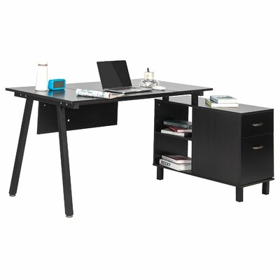 Merax Writing Desk with Cabinet