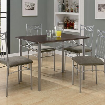 Monarch Specialties Inc. Theo 5 Piece Dining Set