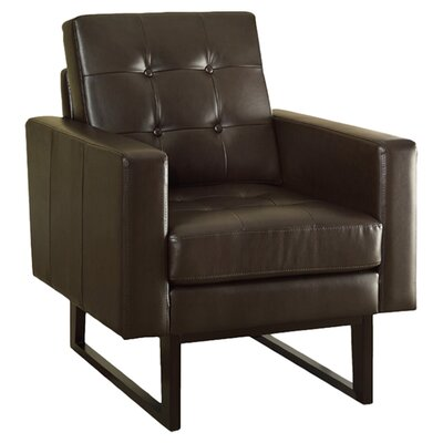 Monarch specialties inc bonded leather match arm chair for Matching arm chairs