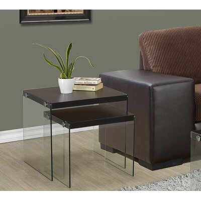 Monarch Specialties Inc. Two Piece Nesting Table Set Image
