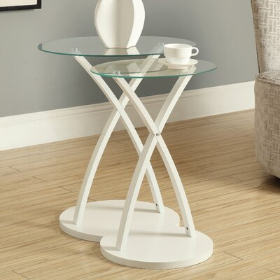 Monarch Specialties Inc. 2 Piece Nesting Table