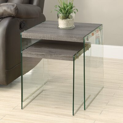 Mercury Row Gaynor 2 Piece Nesting Tables