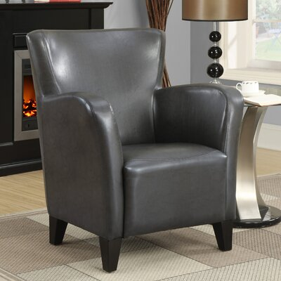 Monarch Specialties Inc. Leather-Look Club Chair