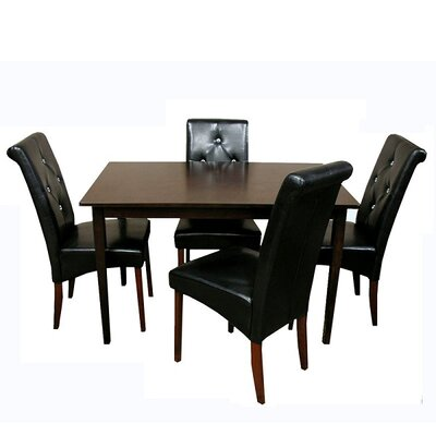Warehouse of tiffany tiffany 5 piece dining set wayfair for Makeup by tiffany d dining room