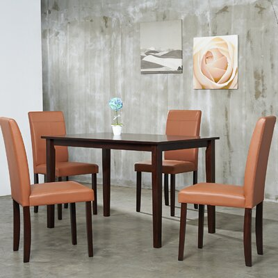 Warehouse of Tiffany 5 Piece Dining Set