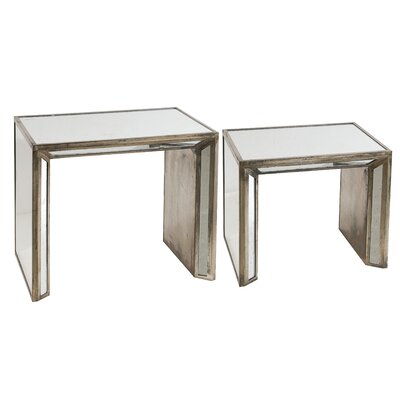 A&B Home 2 Piece Nesting Table Set