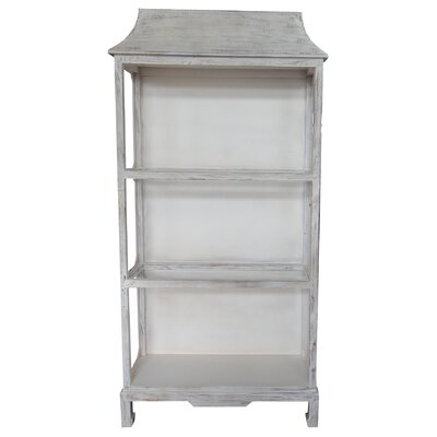 One Allium Way Guyette Wood/Glass Etagere Bookcase