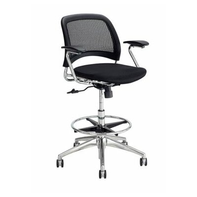 Safco Products Company Reve Series High-Back Mesh Office Chair with Arms