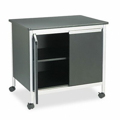Safco Products Company Safco Deluxe Steel Machine Stand 2 Door Credenza
