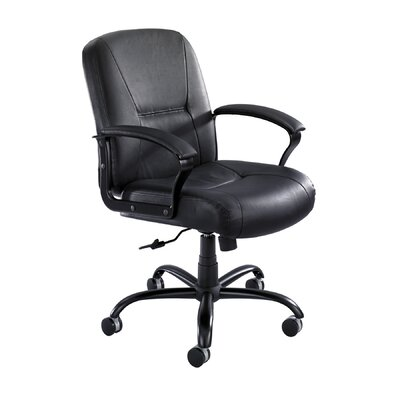 Safco Products Company Serenity Big and Tall Mid-Back Leather Chair