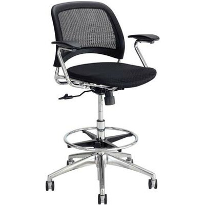 Safco Products Company Reve Mid-Back Mesh Back Task Chair with Arms