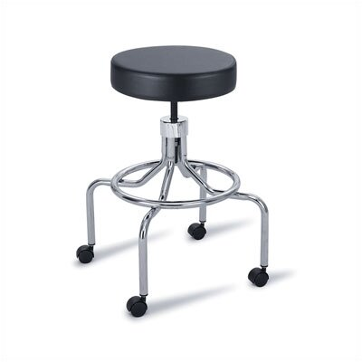 Safco Products Company Height Adjustable Lab Stool with 2 Swivel Casters