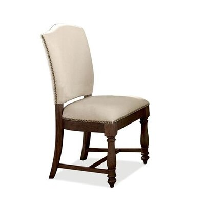 Loon Peak Baddeck Solid Walnut Upholstered Dining Chair (Set of 2)