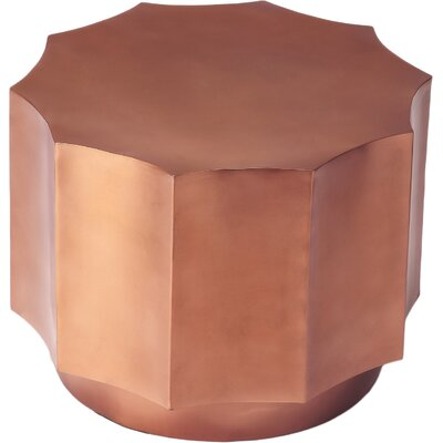 DwellStudio Scallop Side Table in Copper