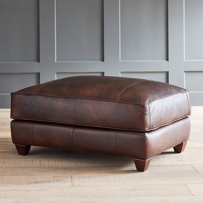 DwellStudio Keegan Leather Ottoman