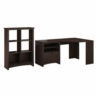 Darby Home Co Egger Corner Desk with 6-Cube Bookcase