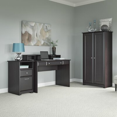 Bush Furniture Cabot 3-Piece Standard Desk Office Suite