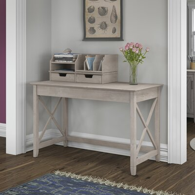 Bush Furniture Key West Writing Desk with Desktop Organizers Image