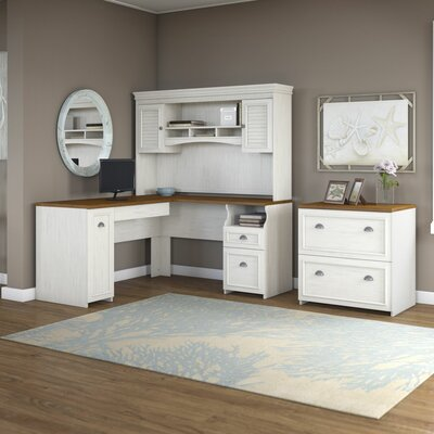 Bush Furniture Fairview Desk with Hutc..
