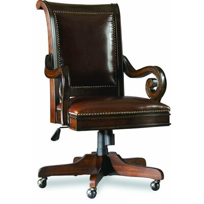 Hooker Furniture European Renaissance II Leather Tilt Swivel Chair