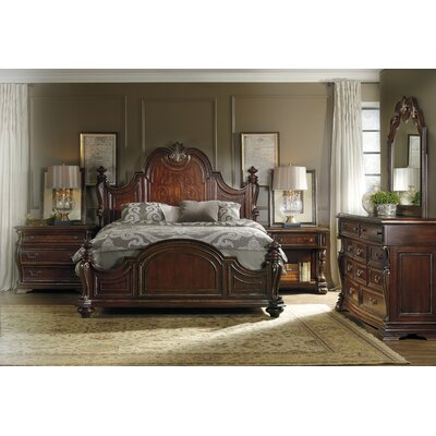 Hooker Furniture Grand Palais Queen Panel Customizable Bedroom Set
