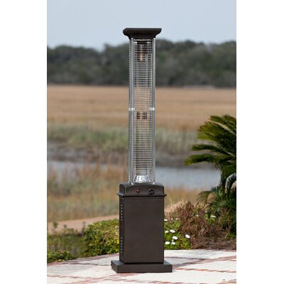 Fire Sense Flame 46,000 BTU Propane Patio Heater U0026 Reviews | Wayfair