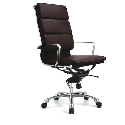 Creative Images International High Back Leatherette Padded Office Chair with Chrome Base
