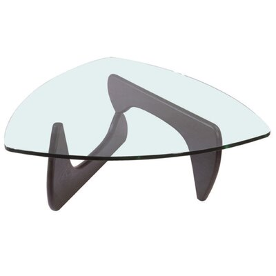 Creative Images International Mid-century Glass Top Coffee Table